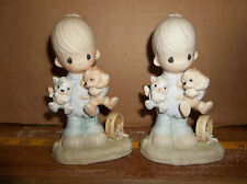 Enesco Large porcelain Figures, Johnathan & David, Blessed Are The Peacemakers