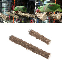 Bird Parrot Wooden Stand Holder Paw Hanging Cage Grinding Perches Chew Pet Toys