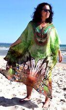 Pure Silk Kaftan PLUS SZ 12 14 16 18 20 22 24 OSFM natural LOVE SASCHA x BNWOT!