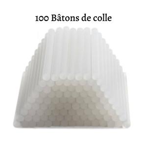 100 Bâtons de Colle Chaude Pour Pistolet 7mm Extra Forte transparent DIY Express