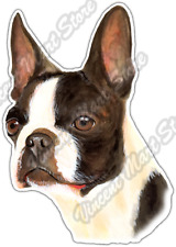 "Boston Terrier Pet Canine Breed Animal Pets Car Bumper Vinyl Sticker Decal 4""X5"""