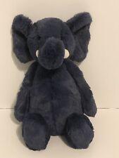 Jellycat Bashful Blue Elephant Stuffed Animal, Medium, 12 inches, Baby Plush