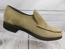 Vintage Beige Suede Hush Puppies Shoes loafers Men's Size 8 M