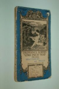 1936 OS MAP SHAFTESBURY WELLS SHEPTON YEOVIL SHERBORNE WARMINSTER FROME E MARTIN