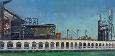 AT&T Park San Francisco Giants Impressionism Landscape John Kilduff 18x36