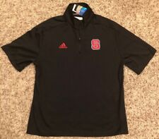 NC State Wolfpack adidas Men's 1/4 Zip Short Sleeve Pullover Black Large