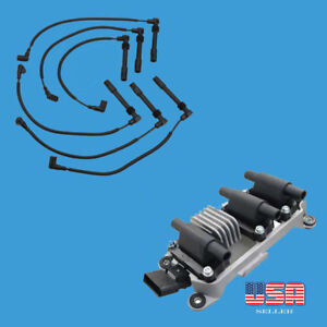 Set of Ignition Coil & Spark Plug wire set Fit : Audi A4 A6 VW Passat V6 2.8L