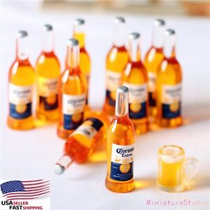 10 Bottle Dollhouse Miniature Wine 1/12 or 1/6 Drink Beer Kitchen Bar Party Pub