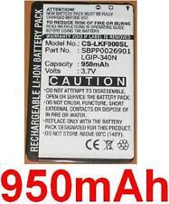 Batterie 950mAh type LGIP-340N SBPP0026901 SPPP0018575 Pour LG GW370