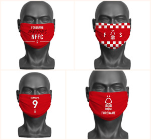 Personalised Nottingham Forest FC Face Covering / Mask Official Adult Football