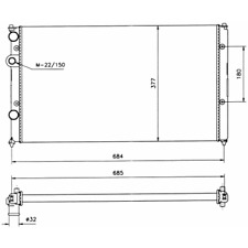 Kühler Motorkühlung - NRF 58093