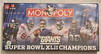 Monopoly Super Bowl Champions XLII Edition Board game Parker Brothers Sealed