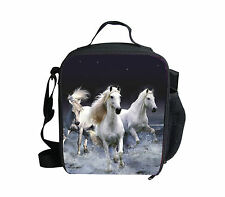 White Horse Lunch Pack Bag Childrens Boys Girls Insulated School Box Picnic Bag