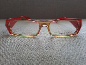 Alain Mikli Full Rim Eyeglasses Model A0507 Color (14) Marble Red Strips 53-17