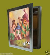 Cuelga llaves Moldura 1 puerta m/ext.30X24X5'7 cm.color plata.Wall Mount key box