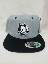 Felix The Cat Two Tone Grey And Black Snapback Hat
