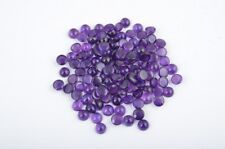 Natural Amethyst 5mm Round Cabochon 10 Pieces Top Quality Loose Gemstone Lot UK
