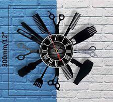 Salon Vinyl Wall clock Hair Cutting decor Sign Professional stylist gift ideas
