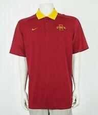 Nike Team Iowa State Cyclones Red Coaches Polo Shirt Mens Sz XL