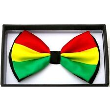NEW Rasta Green Yellow Red Striped  Bow Tie