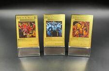 Yugioh Custom Golden Metal Cards Egyptian Gods Slifer Ra Obelisk Collection Card