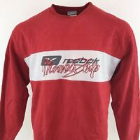 Vintage 90s Reebok Spell Out Jumper Red Sz Large / XL Mens Crew Neck