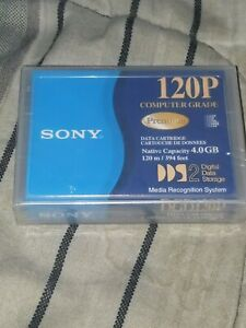 New Sony Blank Media Premium Data Cartridge 120P DDS-2 4 GB-8 GB Sealed