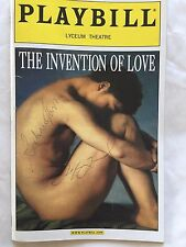 The Invention of Love May 2001 Playbill SIGNED by Robert Sean Leonard, Easton
