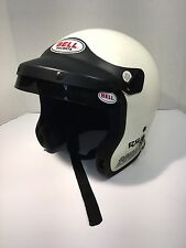 Vintage Bell RS MAG4 Force Flow  White Helmet With Visor And Sun Shade 7-3/4  62