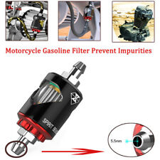 Aluminum Motorcycle Gasoline Oil Fuel Filter Prevent Impurities W/ Oil Pipe
