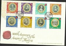GB Isle of Man 2009 FDC 500th anniv Accession of Henry VIII fine used stamps