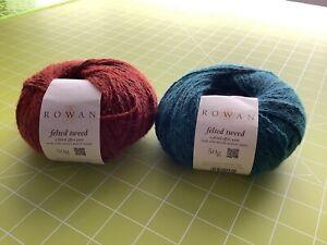 Rowan felted tweed yarn - 2 Balls, +Additional Spare Felted Tweed Yarn