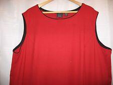 Laura Scott Woman Red With Black Trim Sleeveless Long Dress Size 24-26W RN#15099