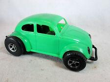 Vintage 1970s green plastic Volkswagen VW baja Beetle bug by Gay Toys