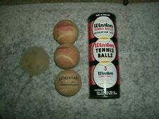 60's or 70's? Winston tennis balls in metal can Used not Wilson