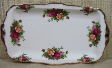 Royal Albert Old Country Rose Large Rectangular Sandwich Tray Cookie Platter S1