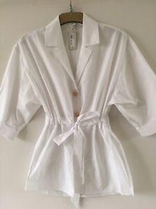 River Island Women's Long Sleeve White Shirt Blouse Top. Size 8. RRP £32.
