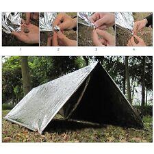 Outdoor Emergency Mylar Blankets Sleeping Bag Survival Reflective Camping