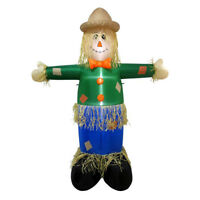 6' Scarecrow Lighted Airblown Inflatable Outdoor Yard Halloween Decoration 72""
