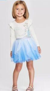 Toddler Girls' Disney Long Sleeve Cinderella Tutu Dress - White/Blue 2T, Girl's