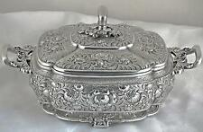 A RARE TIFFANY CHINESE-STYLE STERLING SILVER COVERED DISH, CIRCA 1880, 1502 g.