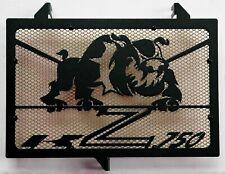 cache grille radiateur Kawasaki Z750 07>12 Bulldog noir mat + grill or