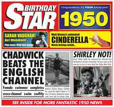 67th 1950 Birthday Gifts - 1950 Chart Hits Britpop CD and 1950 Greetings Card