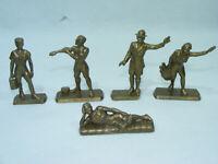 Lot de 5 figurine LE CAFÉ MARTIN Scoutisme & Camping  vintage 60's