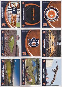2016 PANINI UNIVERISITY OF AUBURN TIGERS 49 CARD SET 1-50