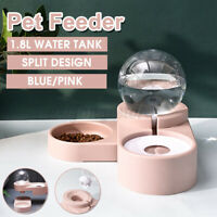 1.8L Bubble Dog Cat Pet Bowls Automatic Feeder Fountain Food / Water