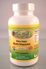 Vita Hair multivitamins, shiny healthy hair, keratins ~100 tablets. Made in USA.