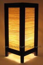 Asian Orient Living Room Art Nightstand Zen Table Lamps - *Bamboo Wood Design*
