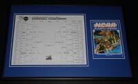 1987 NCAA Basketball Championship Framed Postcard & Bracket Display Indiana