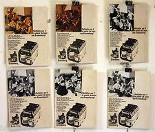 6 MAQUETTES POUR LA BIERE KRONENBOURG 1966/67